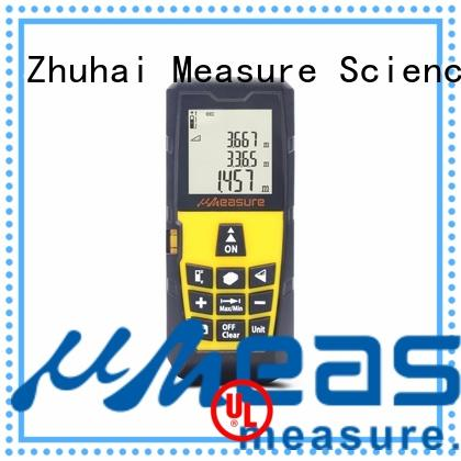 uMeasure Laser Measure 328ft Handheld Digital Rangefinder Laser Distance Meter Measure Distance Height Volume and Area 100m Accurately Measuring Tape Distance Device with Large LCD Backlit Display