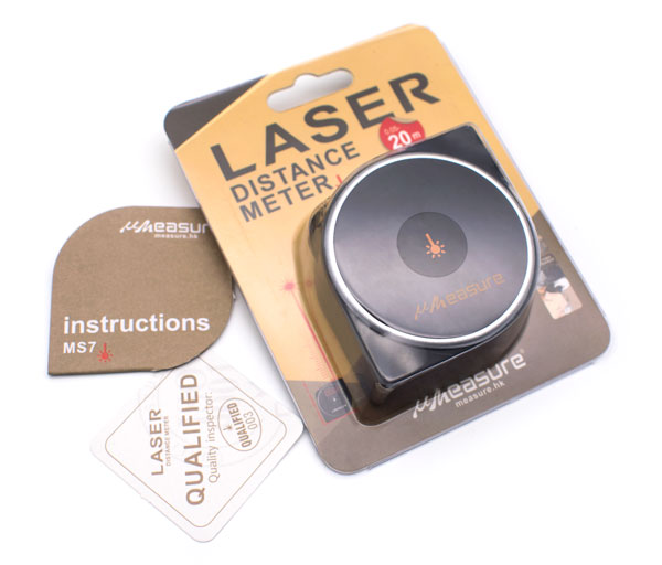 UMeasure 3-in-1 digital laser tape measure wheel mode measure tape MS7-20B-11