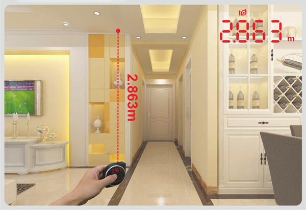 1.5mm accurate curve radian wheel track measurement laser tape measure MS7-40B-4