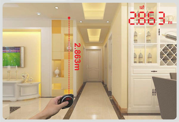 UMeasure long laser ruler handhold for worker