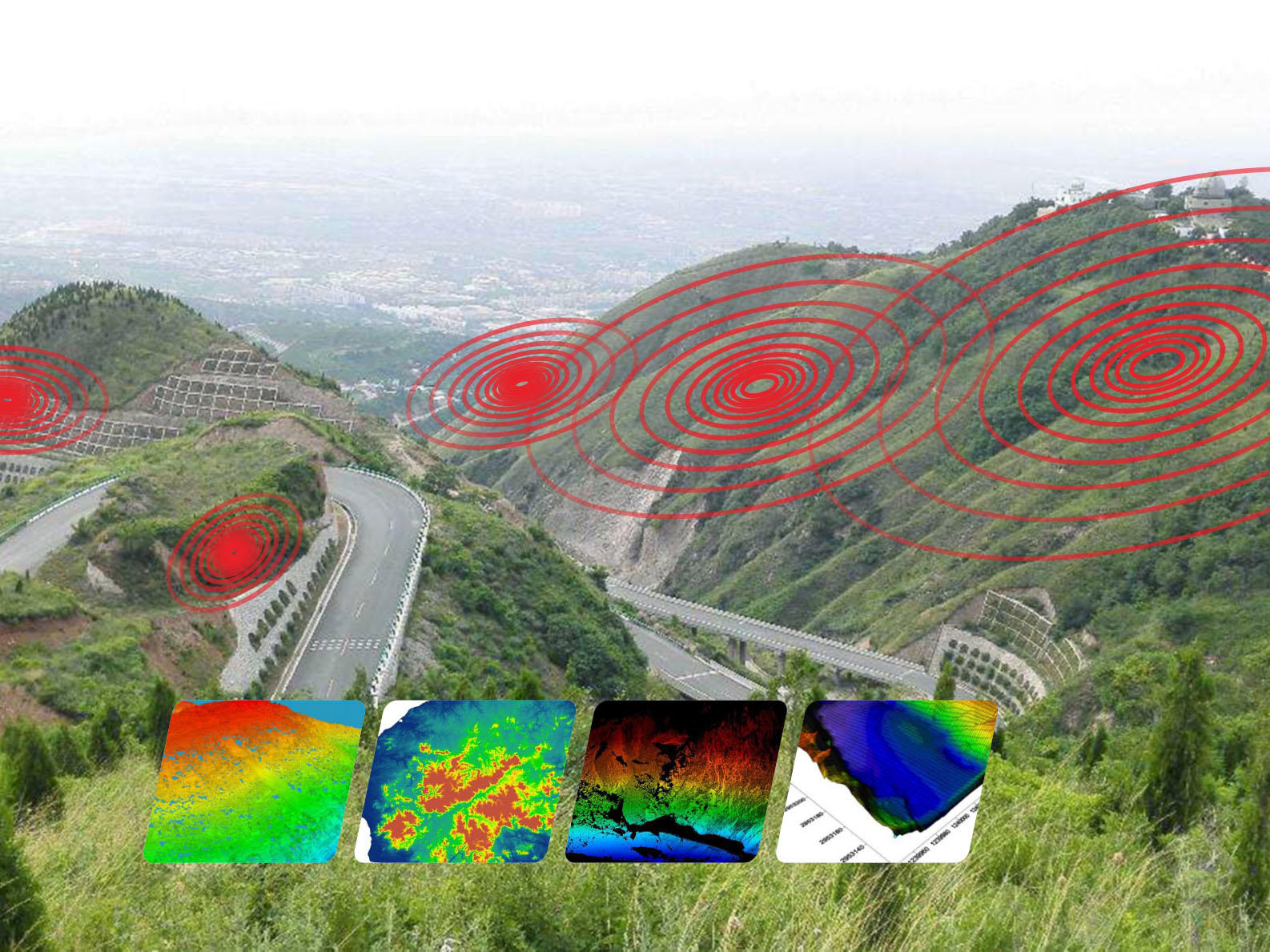 Safety monitoring and protection of landslides, tunnels, mines, bridges, etc.