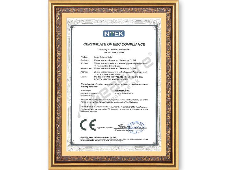 CE - EMC certificate