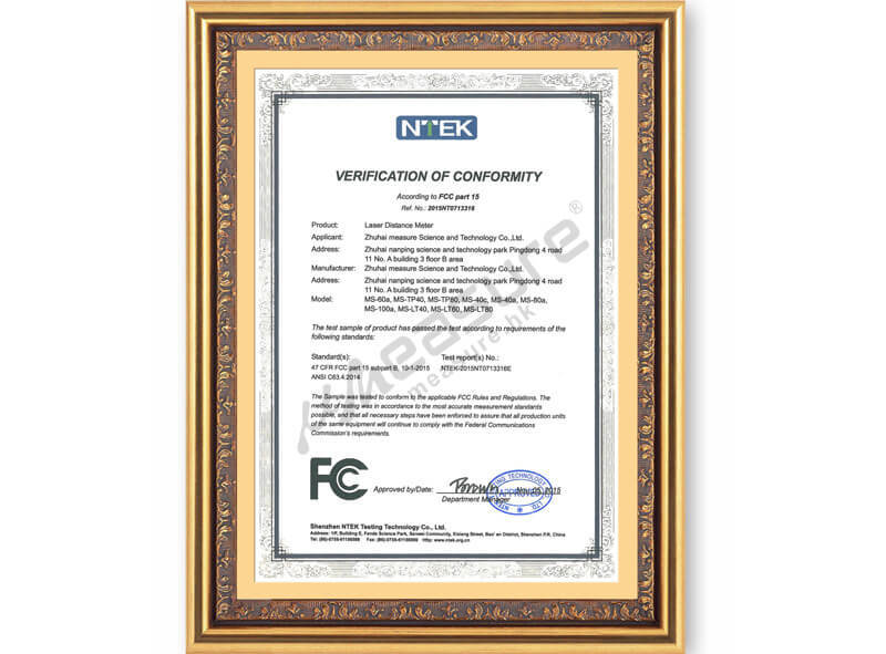 Patent certificate - verification of conformity