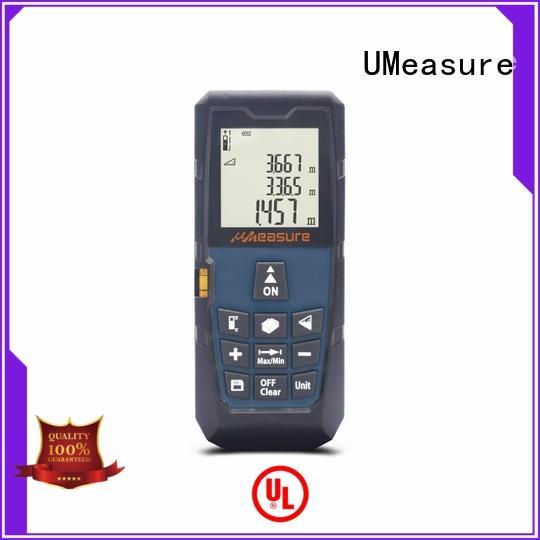 UMeasure laser measuring tool display for worker