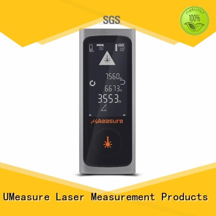 UMeasure level laser tape measure reviews display for worker