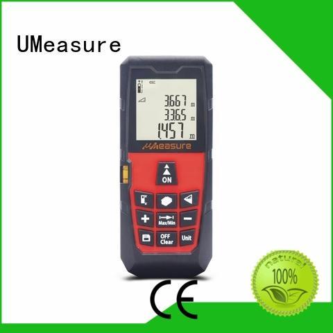 UMeasure handheld laser distance measuring device backlit for measuring