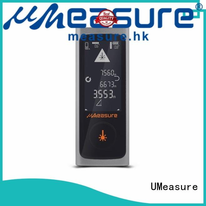 handheld digital laser distance measurer display for measuring UMeasure