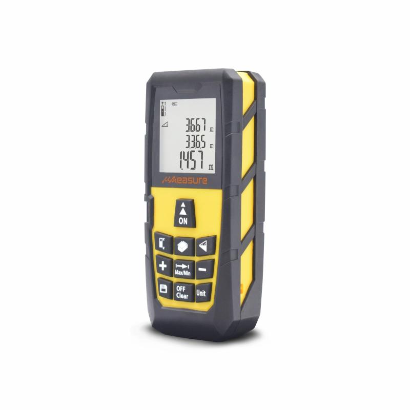 uMeasure Digital Laser Distance Measure 131ft Handheld Measuring Tape for Distance Height Volume Area Measurement Pythagorean Mode 40M ±1/16 Accuracy Tools for Men or Women