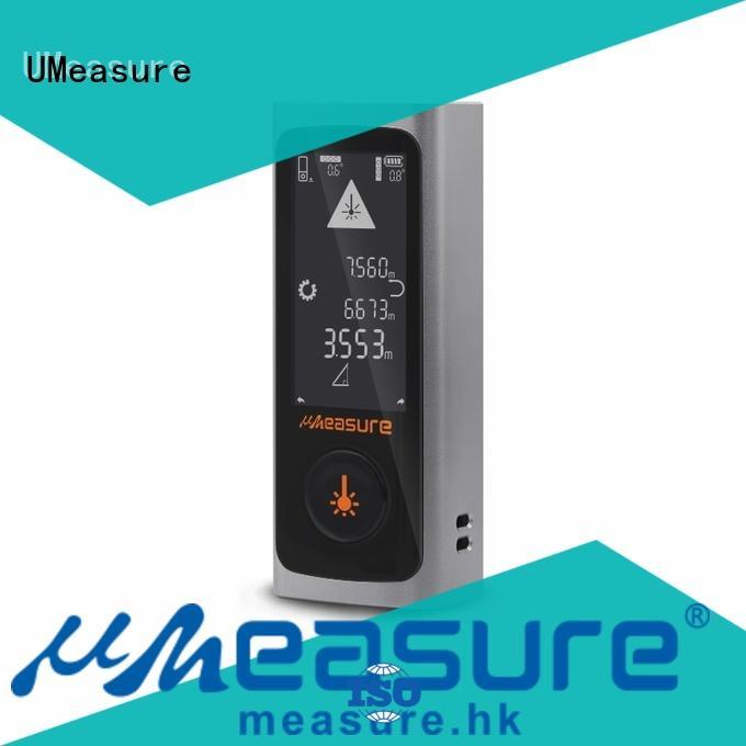 UMeasure electronic laser meter display for worker