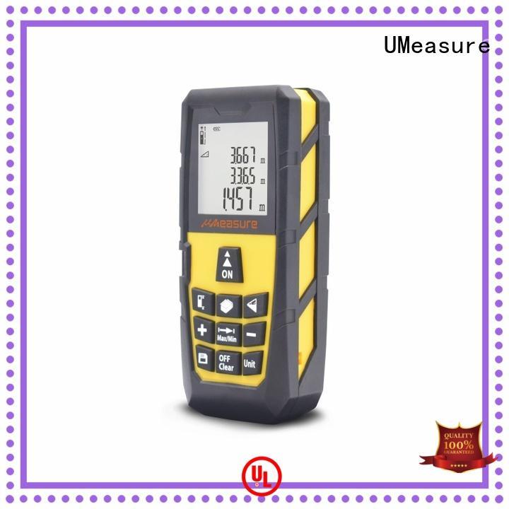 UMeasure cross laser ruler display for measuring