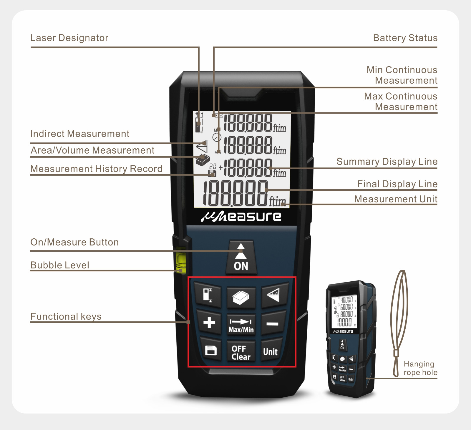 large laser measuring device manufacturers digital for worker UMeasure-12