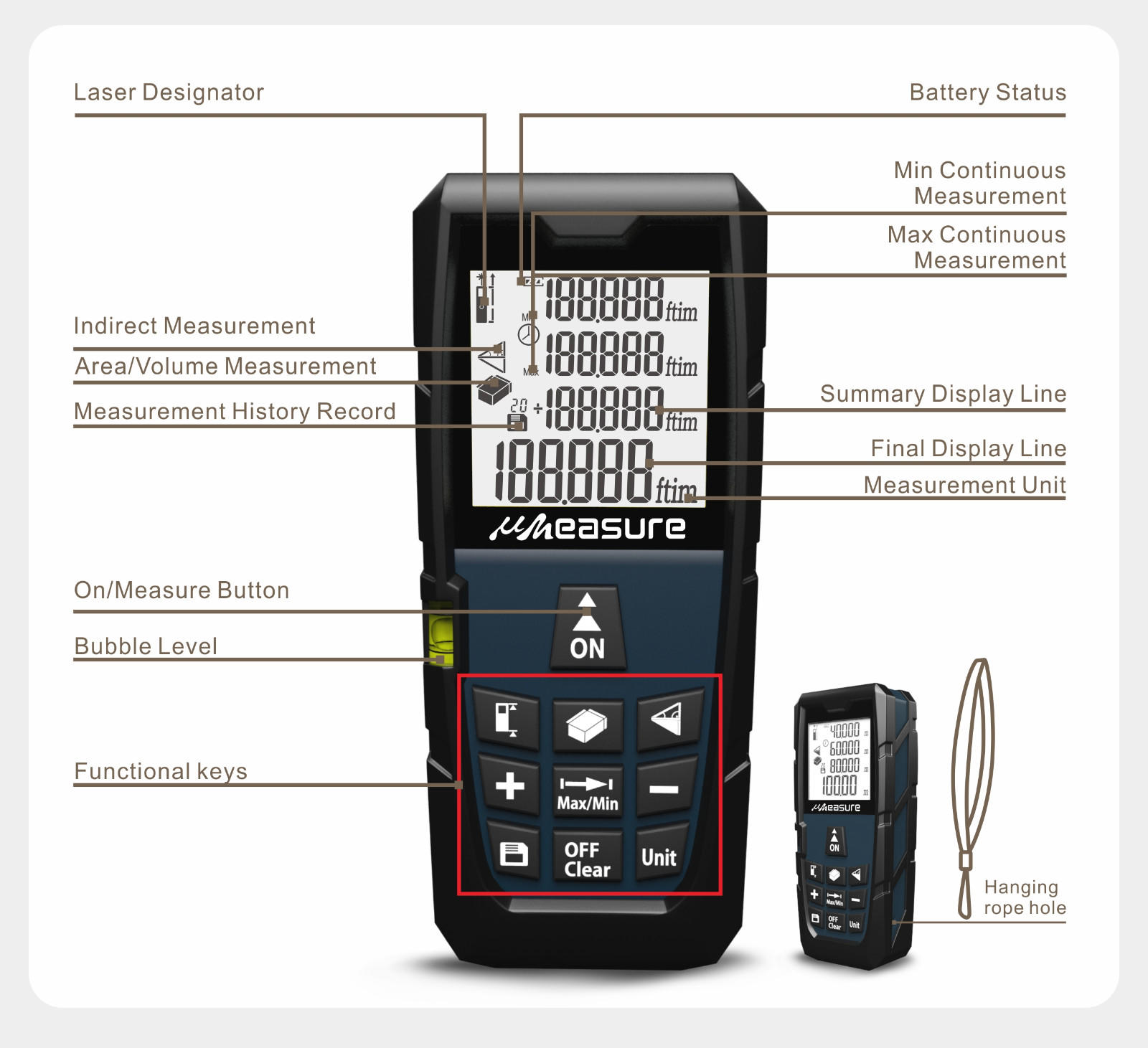 large laser measuring device manufacturers digital for worker UMeasure
