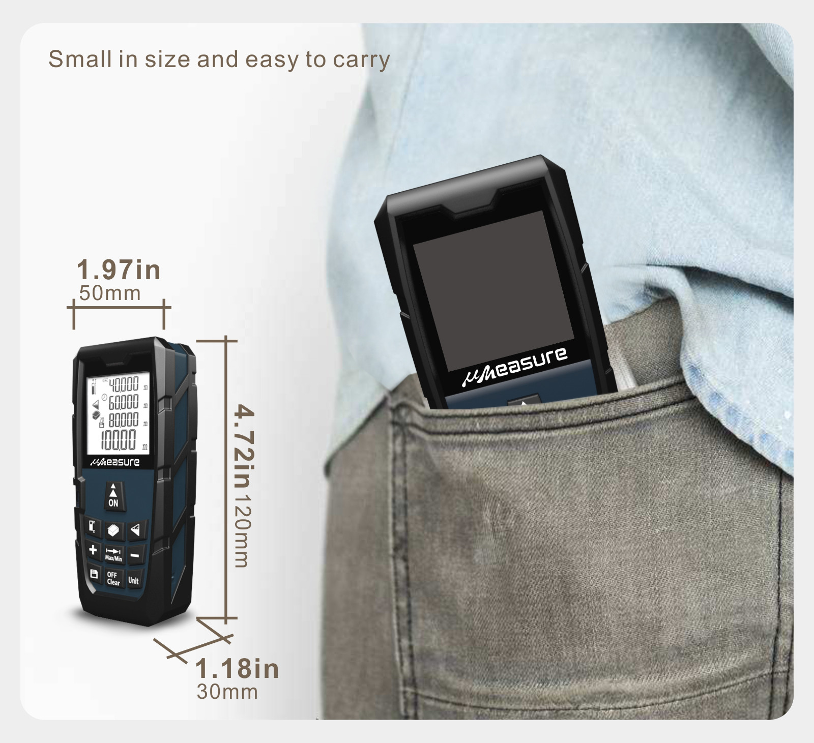 eye-safe laser distance measurer bluetooth for worker-13