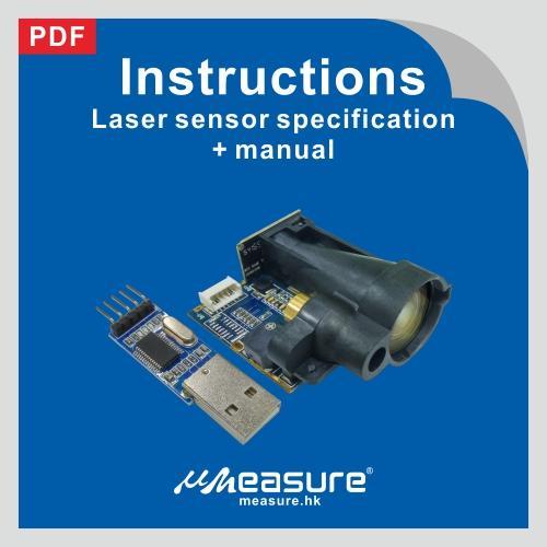 Laser sensor specification + manual