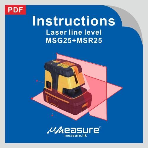 Laser line level MSG25+MSR25
