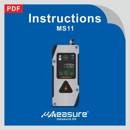 Laser distance meter MS11 specification+manual +packaging