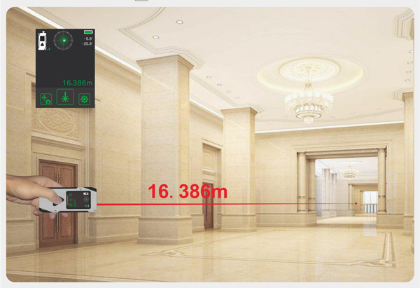 UMeasure handheld laser distance backlit for measuring-14