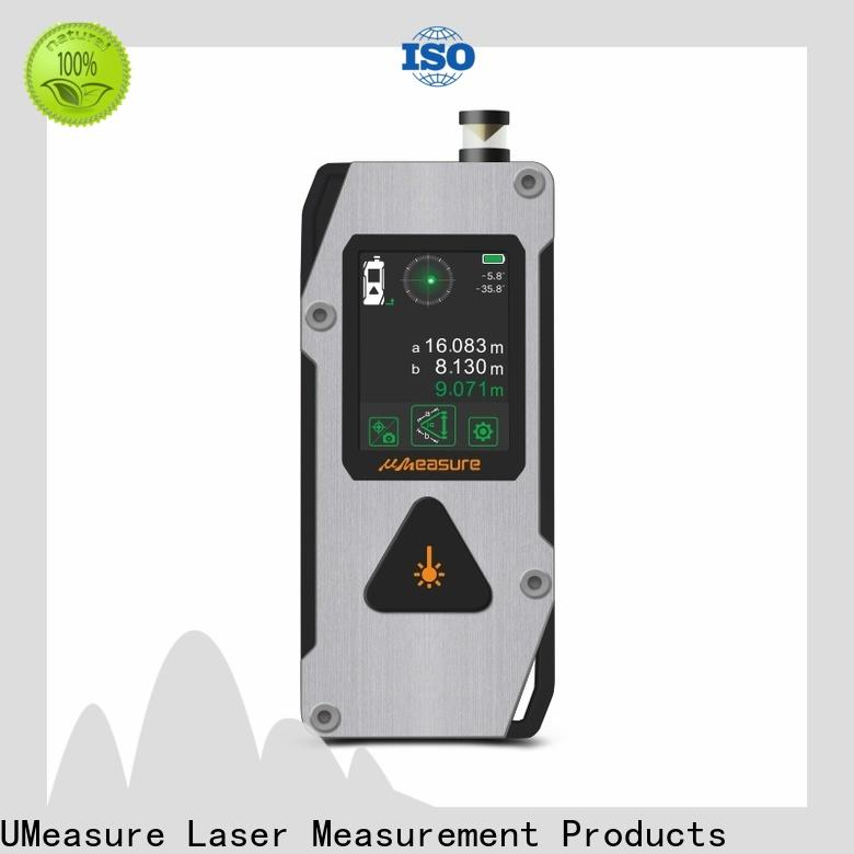 UMeasure eye-safe laser measure tape display for measuring
