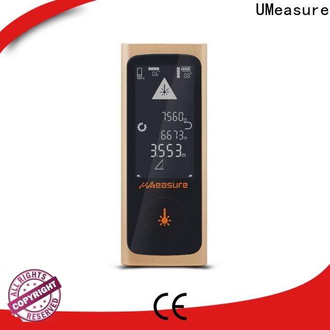UMeasure wheel laser tape measure reviews display for wholesale