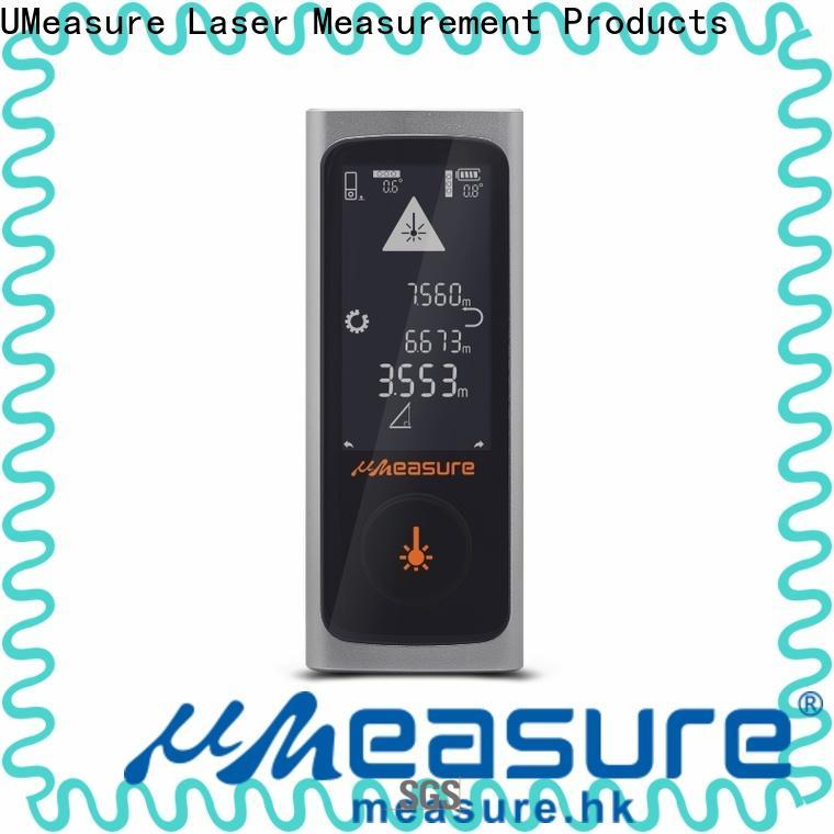 UMeasure eye-safe laser measuring devices display for measuring