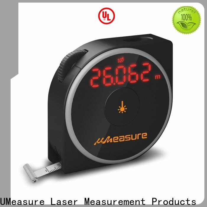 UMeasure carrying laser measure tape display for measuring