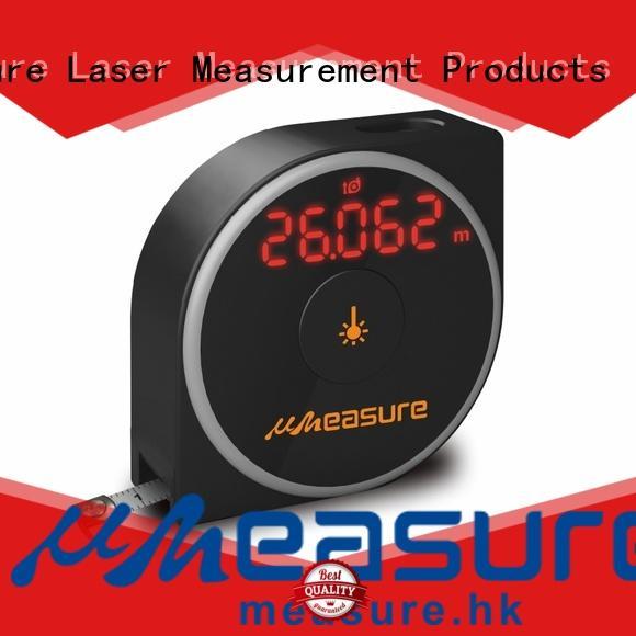 UMeasure long laser distance measuring tool display for worker