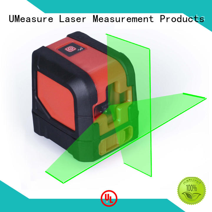 UMeasure level cross line laser level wall house measuring